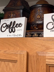 Wooden Farmhouse Coffee Art
