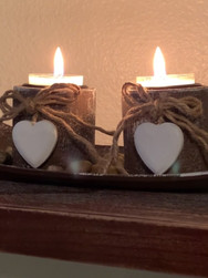 Rustic Tealight Candle Holders