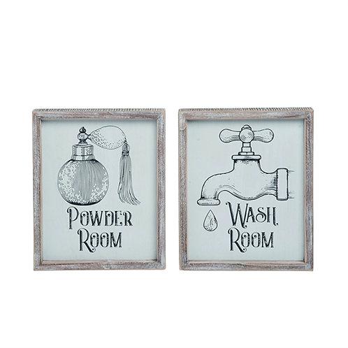 Wooden Powder Wash Room Wall Decor