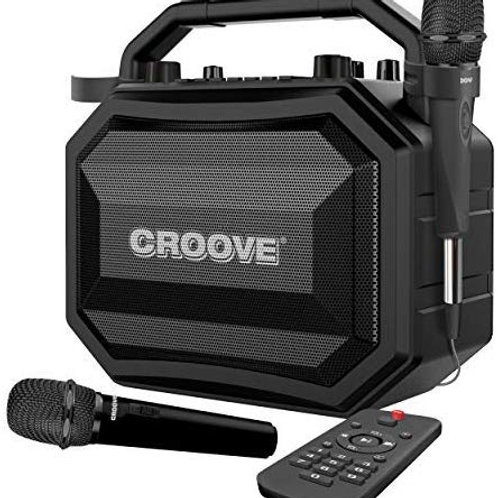 Portable Karaoke Machine Party Box with Bluetooth and 2 mics