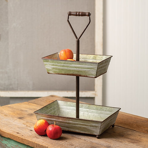 Two-Tier Rectangle Tray