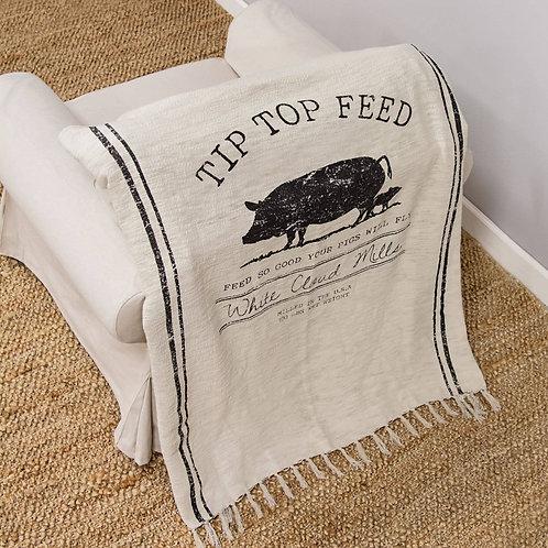 Tip Top Feed Farmhouse Throw