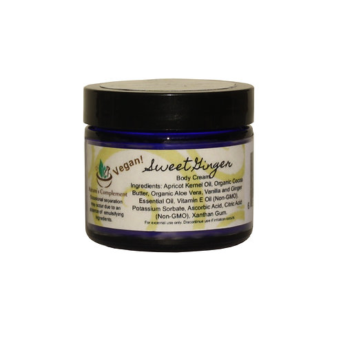 Nature's Complement Sweet Ginger Body Cream