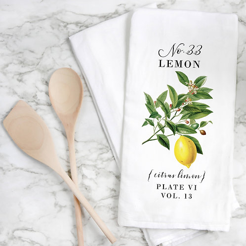 Lemon Botanical Tea Towel