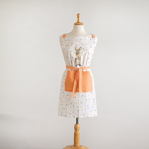 Bunny with Flowers Apron