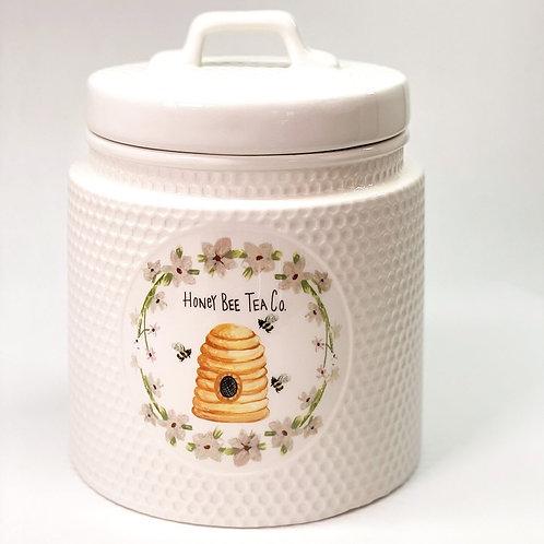 Honey Bee Tea Co. Ceramic Cookie Jar