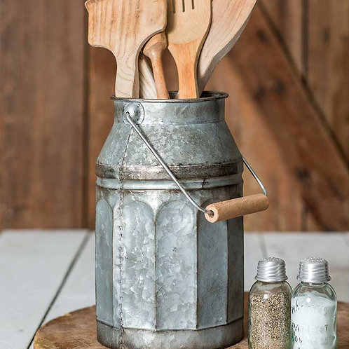 Galvanized Milk Can with Handle