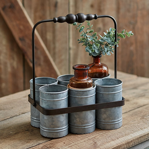 Galvanized Cup Caddy