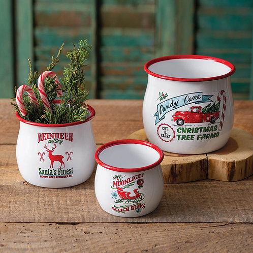 Set of Three Holiday Bowls