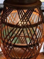 Large Wicker Solar Lantern
