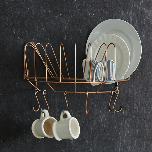 Hanging Plate and Cup Rack