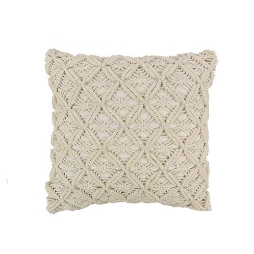 Texas Brown Bandana Quilt Crochet Pillow