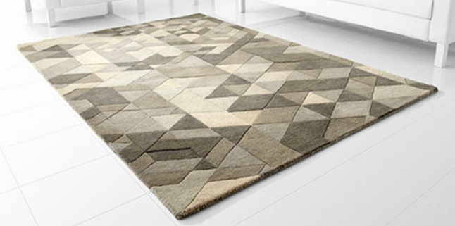 Facets Wool Area Rug