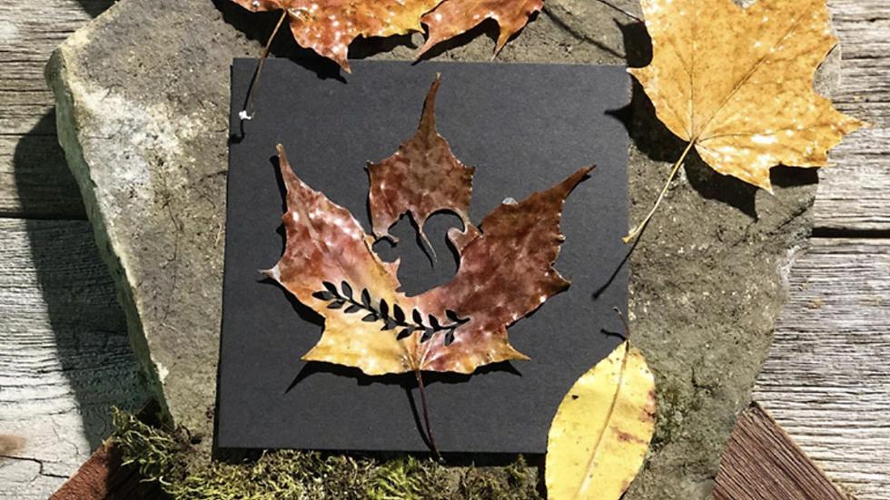 """""""The Gather"""" Fall Leaf Cut into Art"""