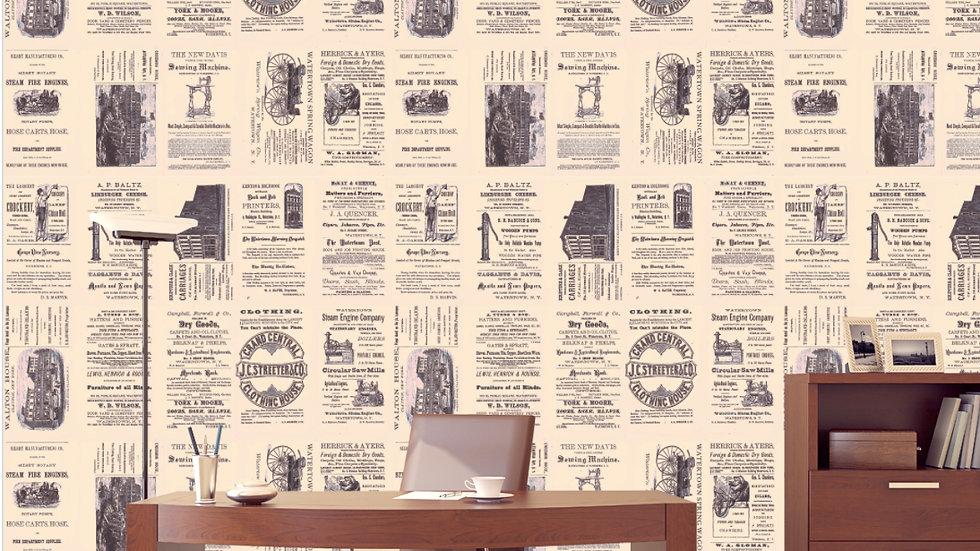 Watertown NY Historic Ad Wallpaper