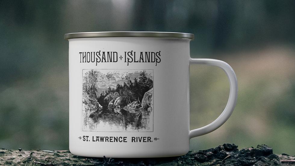 Historic Thousand Islands Enamel Mug