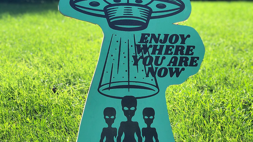 """""""Enjoy where you are now"""" wood decoration"""
