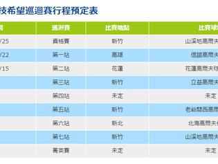 2017台灣科技希望巡迴賽行程預定表