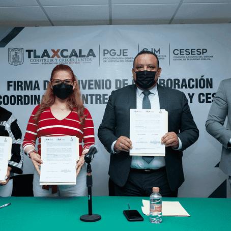 FIRMAN CONVENIO DE COLABORACIÓN PGJE, CJM Y CESESP PARA PREVENIR Y ERRADICAR LA VIOLENCIA