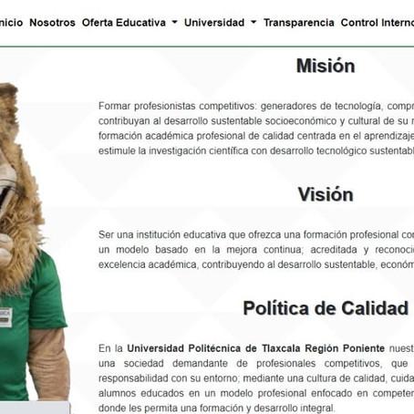 PRESENTA UPTREP NUEVA IMAGEN DE SU PÁGINA WEB