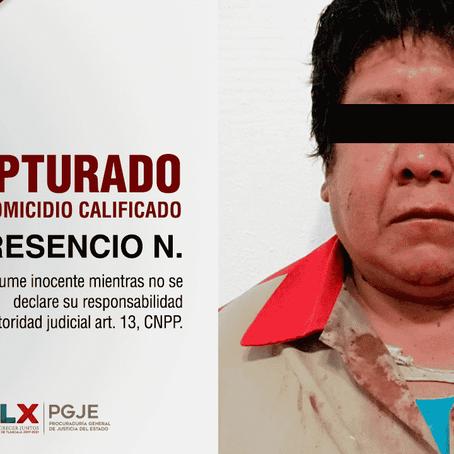 CAPTURA PGJE A PRESUNTO HOMICIDA DE UN HOMBRE EN TOCATLÁN