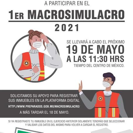 CONVOCA CEPC A INSTITUCIONES A PARTICIPAREN EL PRIMER MACROSIMULACRO 2021