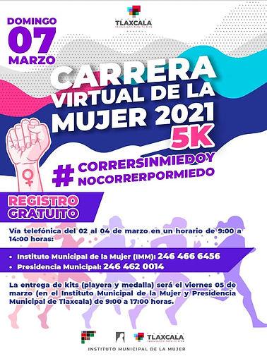 CARRERA DE LA MUJER TLAXCALA INFORTLAX