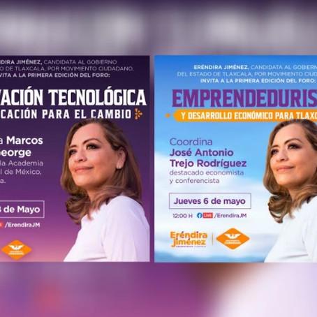 ANUNCIA ERÉNDIRA JIMÉNEZ FOROS DE EDUCACIÓN Y DESARROLLO ECONÓMICO
