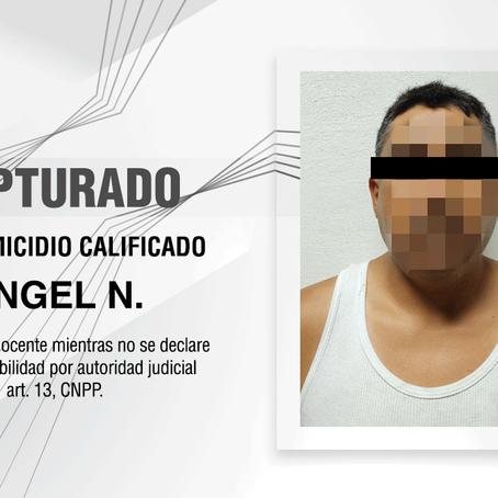 CAPTURAN PGJE, CONASE Y SEMAR A IMPUTADO INVOLUCRADO EN UN HOMICIDIO
