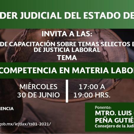 """IMPARTIRÁN EN EL TSJE LA CONFERENCIA """"LA COMPETENCIA EN MATERIA LABORAL"""""""