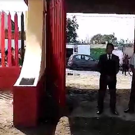 """MONTIEL  ENTREGA PORTÓN EN ESCUELA  PRIMARIA  """"RICARDO FLORES MAGÓN"""" DE  MAZATECOCHCO"""