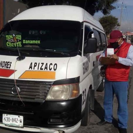 CONTINÚA SUPERVISIÓN DEL USO OBLIGATORIO DE CUBREBOCAS EN EL TRANSPORTE PÚBLICO: SECTE