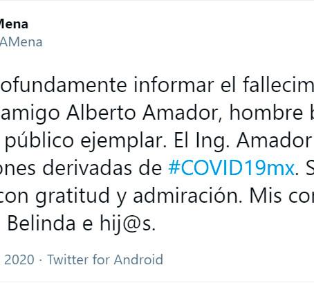 FALLECE ALBERTO AMADOR LEAL, JEFE DE OFICINA DEL EJECUTIVO, POR COVID-19