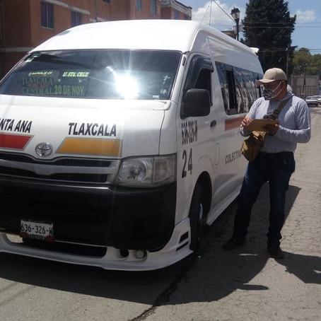 MANTIENE SECTE SUPERVISIÓN DEL USO OBLIGATORIODE CUBREBOCAS EN EL TRANSPORTE PÚBLICO