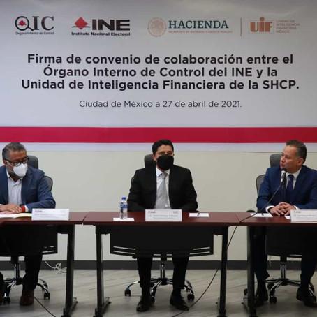 OIC DEL INE Y UIF INTERCAMBIARÁN INFORMACIÓN DURANTE Y DESPUÉS DEL PROCESO ELECTORAL