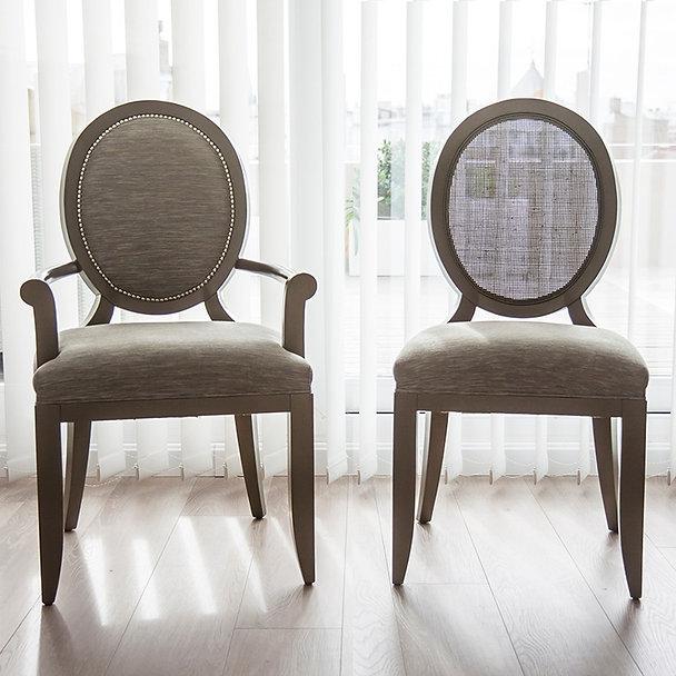 Agatha - Silla de comedor madera tapizada