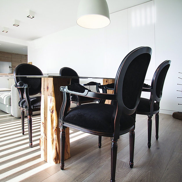 Andrea - Silla comedor madera tapizada