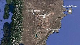 mapa de Chubut