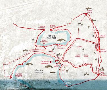 Mapa de Peninsula Valdes