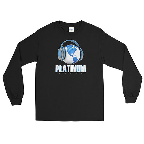 Platinum Radio's Men's Long Sleeve Shirt Logo