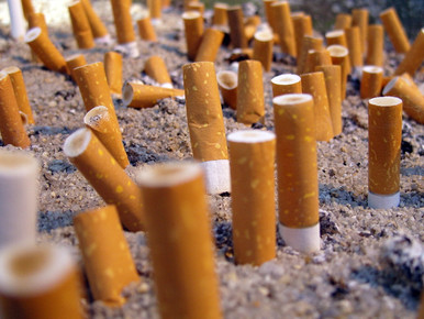 Raucher-Zone fertiggestellt