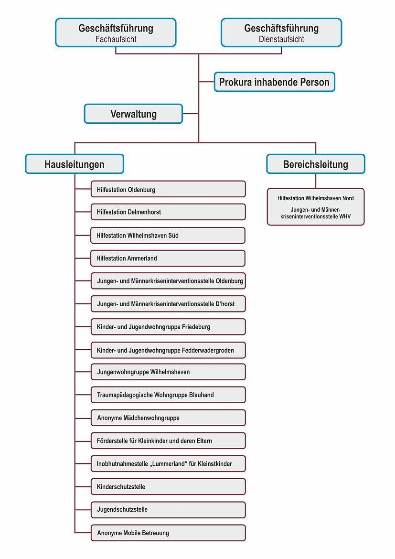 Das Organigramm der meracon gGmbH
