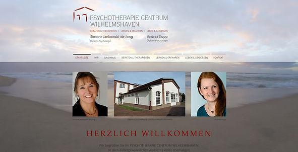 Webseite Psychotherapie Centrum Wilhelmshaven