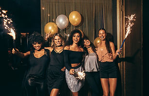 Gruppfoto på en fest