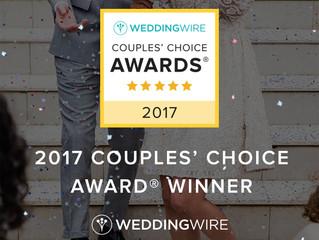 #WeddingWireCouplesChoiceAwardWinner2017