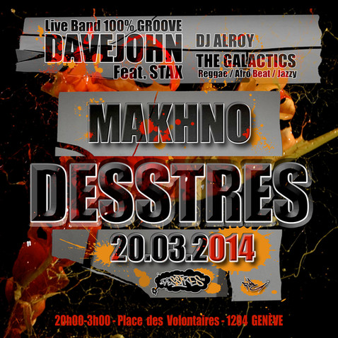 Flyer Makhno soirée Desstres
