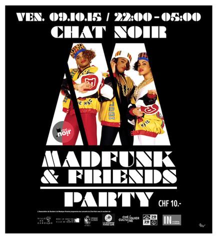 Affiche Chat Noir MADFUNK-PARTY