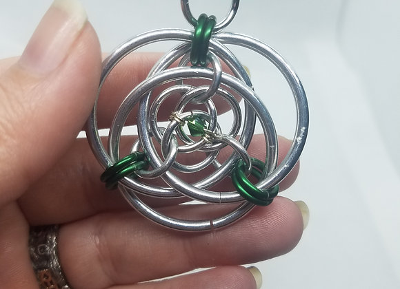 Green beaded pendant