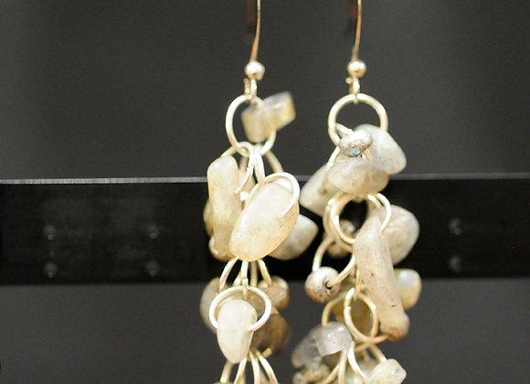 Shaggy loops gemstone earrings