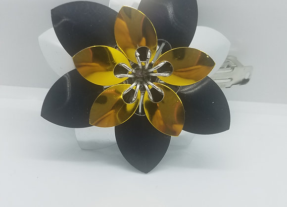 Gold Triple Scale  Barrette